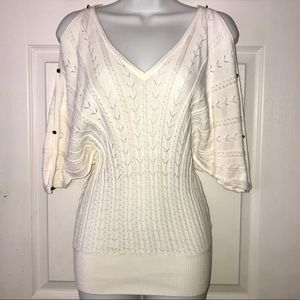 {Guess} V Neck Dolman Sleeve Sweater